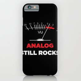 Analog VU Volume Unit Meter Sound Engineer Retro iPhone Case