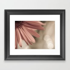 pink. Framed Art Print