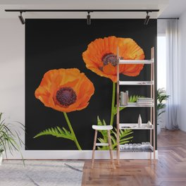 Two beautiful  poppies Wall Mural