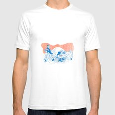 Freud and Halsted MEDIUM White Mens Fitted Tee