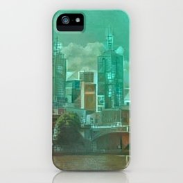 Melbourne Waterfront Abstract iPhone Case