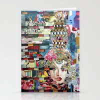 marie antoinette Stationery Cards featuring Marie Antoinette by Katy Hirschfeld