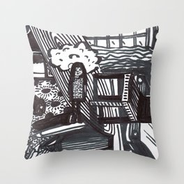 She wandered lowly as a cow. Throw Pillow