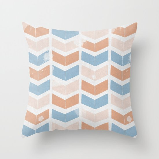 stamb chevron 2 Throw Pillow