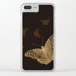 Butterflies in the dark Clear iPhone Case