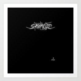 Savage trash Art Print