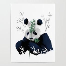Panda Bamboo Poster