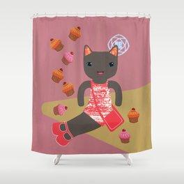 cupcake shower Shower Curtain