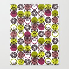 Black Border Abstract Circles Canvas Print