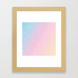 Rainbow Watercolor Astronomy Framed Art Print