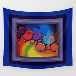 Rainbow Pebbled Pathway Wall Tapestry