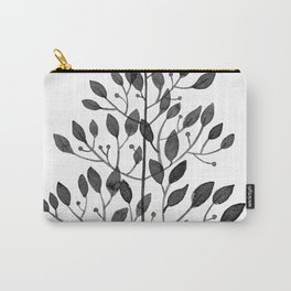 black sprig drawn in ink Carry-All Pouch