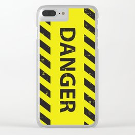 Danger! Clear iPhone Case
