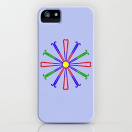 Field Hockey Stick Design iPhone Case