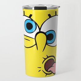 Spongebob Crazy Face Travel Mug