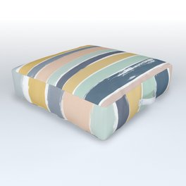 Pastel Stripes Outdoor Floor Cushion