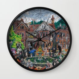 The House of the Black Hole Sun Wall Clock