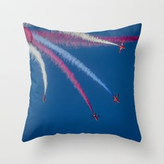Red Arrows 1,2,3,  Throw Pillow
