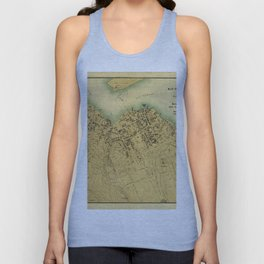 Map Of Bar Harbor Maine 1896 Unisex Tank Top