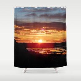 Ground Level Sunset Shower Curtain