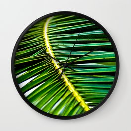 Green Palm Poetry Wall Clock