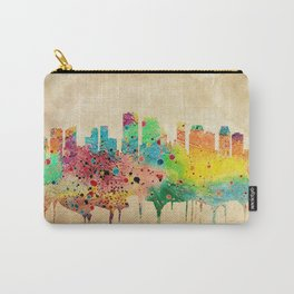 New Orleans Watercolor Print City Skyline Home Decor Carry-All Pouch