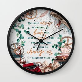 Be careful of books Wall Clock