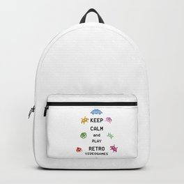 Keep calm and play retro videogames Backpack