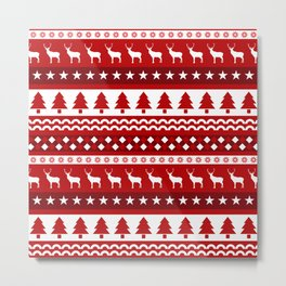Christmas Pattern Metal Print