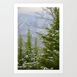 Snowy Day in the Smoky Mountains Art Print