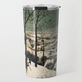 Pieter Bruegel The Elder - Hunters In The Snow, Winter Travel Mug