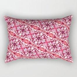 30 degree pink & red Rectangular Pillow