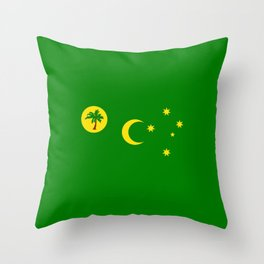 flag of the Cocos (Keeling) Islands Throw Pillow