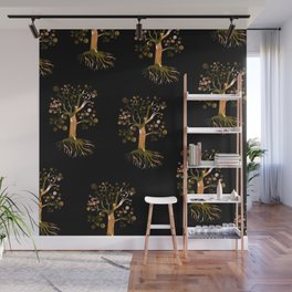 Whimsical Tree Pattern Wall Mural