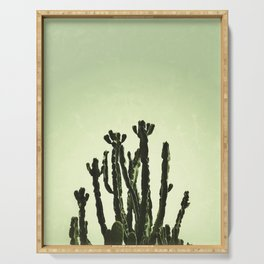 Wild Cactus Green Serving Tray