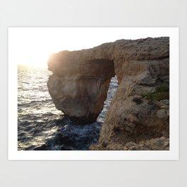 The Azure Window of Dwejra Art Print