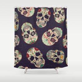 Skulls Art Cartoon Design Shower Curtain