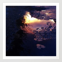 Sunset in Reverse Art Print