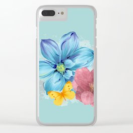 Flower Power Clear iPhone Case