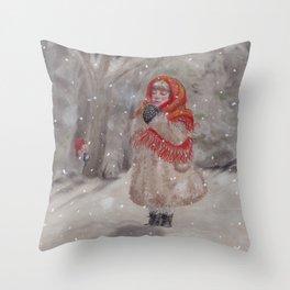 Hiding gnome Throw Pillow