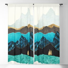 Teal Afternoon Blackout Curtain