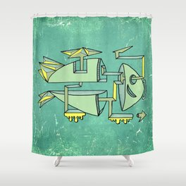 am fishin' lost Shower Curtain