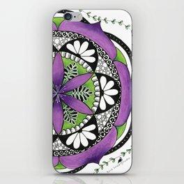 Purple Flower Mandala iPhone Skin