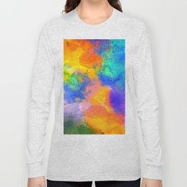 Spilt Rainbow - Abstract, watercolour art / watercolor painting Long Sleeve T-shirt