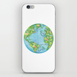 Floral Earth iPhone Skin