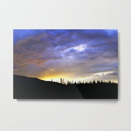 Heart of Light Above the Dark Mountain Metal Print