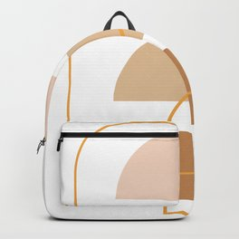 Half Moon Geometric Arch Stack Line Art Drawing Abstract Minimal Lines Design Backpack