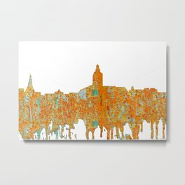 Annapolis, Maryland Skyline SG - Rust Metal Print
