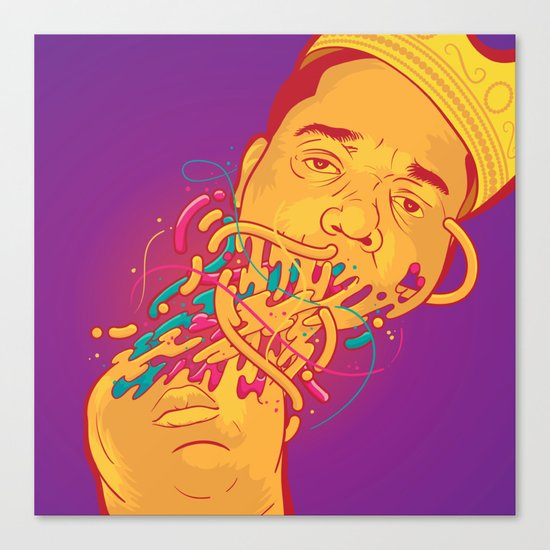 Happily melting Notorious Canvas Print
