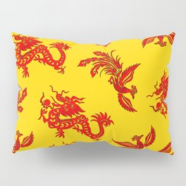 Phoenix Dragon Feng Shui Pillow Sham